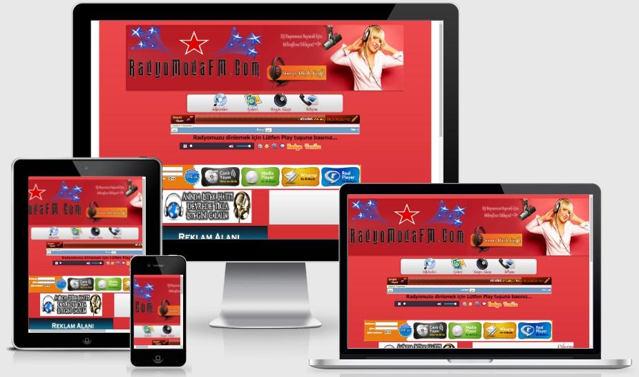 Kırmızı WordPress Radyo Sohbet Teması